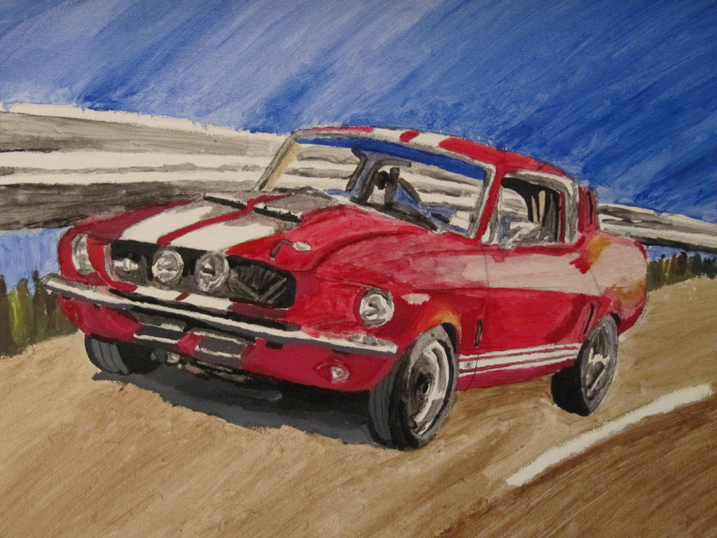 Ford Mustang Shelby Gt500 1967 Acrylic Painting By Nath2897 On Deviantart