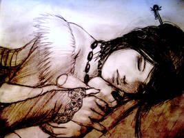 Lulu Sleeping by Senneraldya