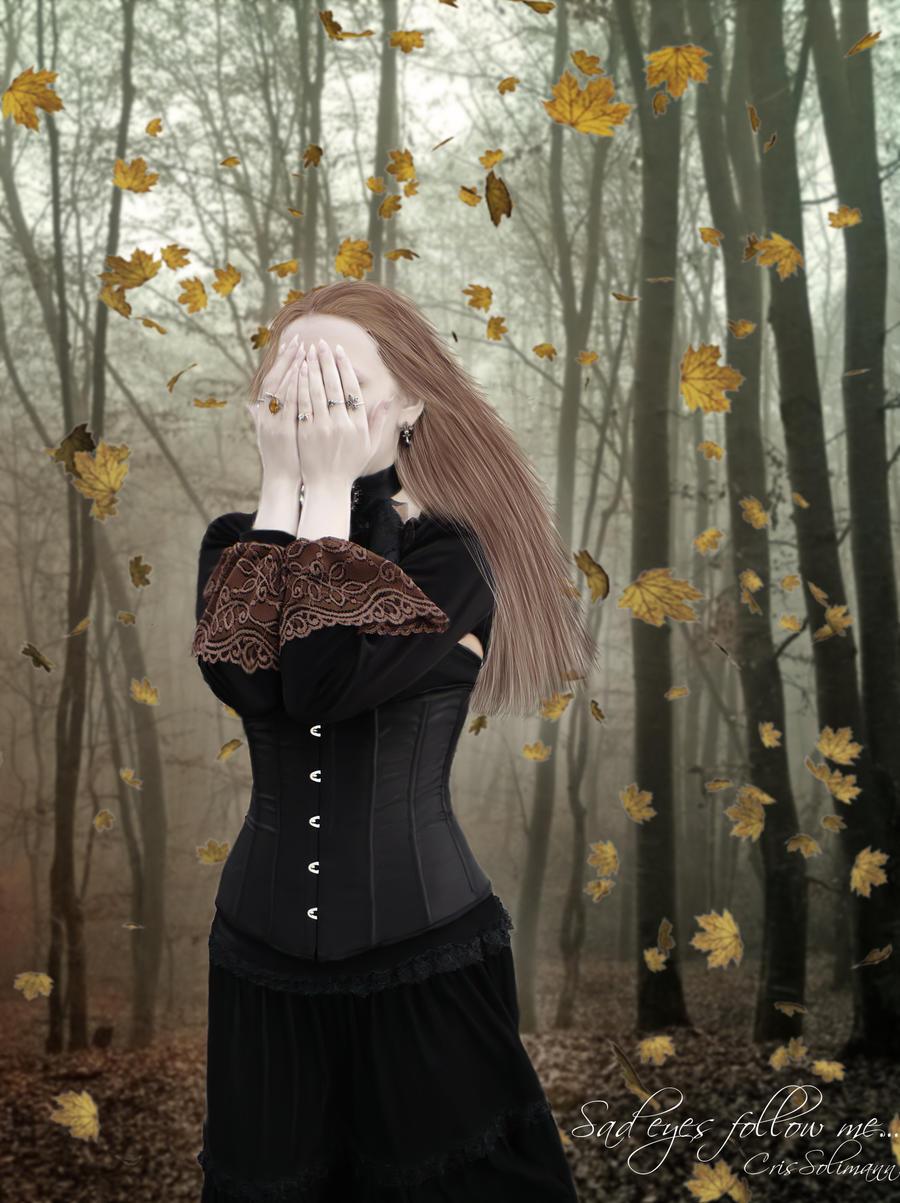 Sad eyes follow me... by CrisSolimann