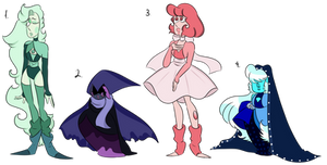 pearl and sapphire gem adopts CLOSED by ChataDyer