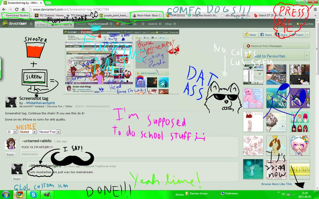 screenshot tag thing  t by damfurrywolf on deviantart
