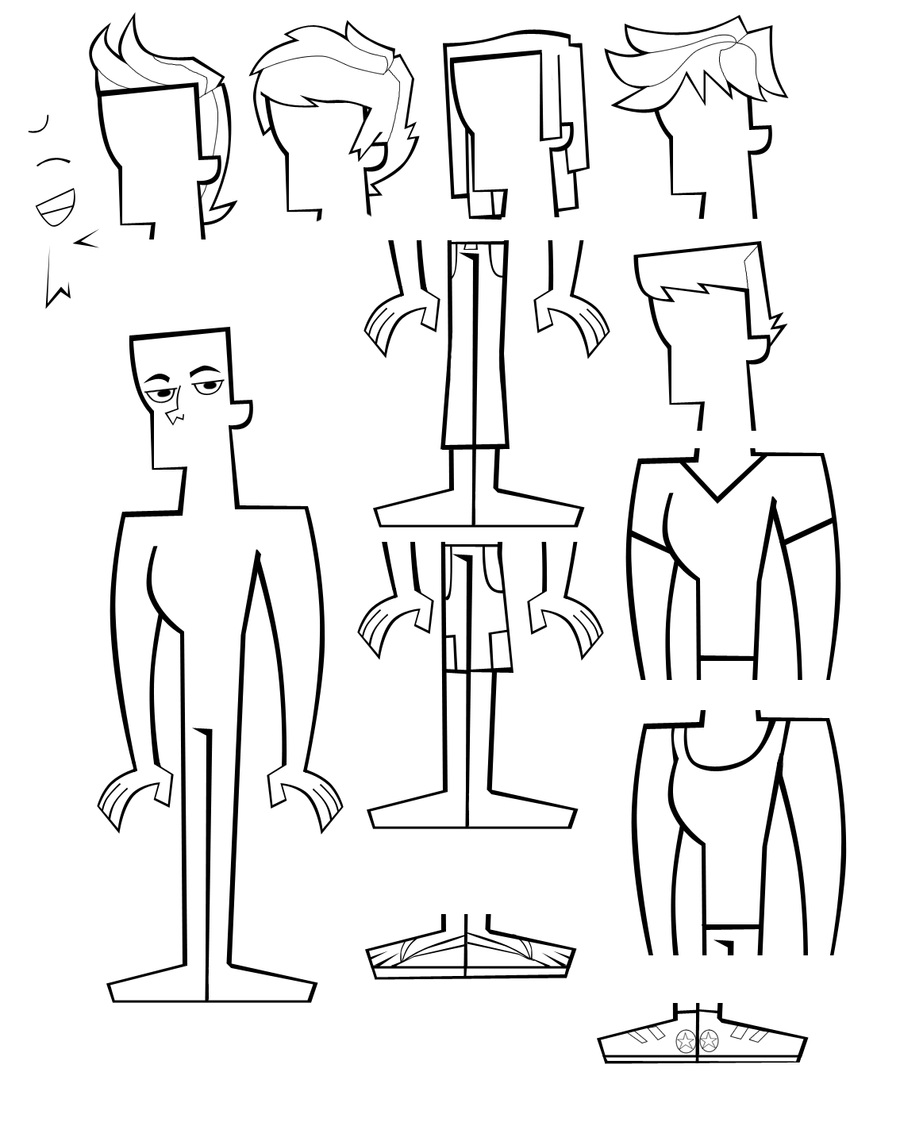 how to draw your own total drama character