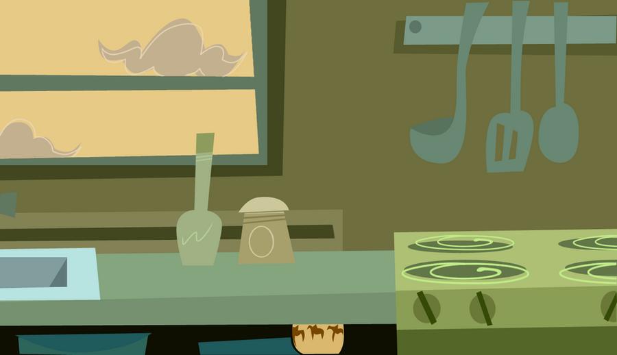 Anime Kitchen Background Kitchen background by ma-ri-no