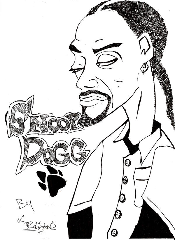 Snoop Dogg Easy Coloring Pages