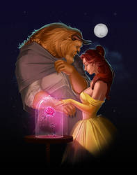beauty and the beast by MorganLee-Art