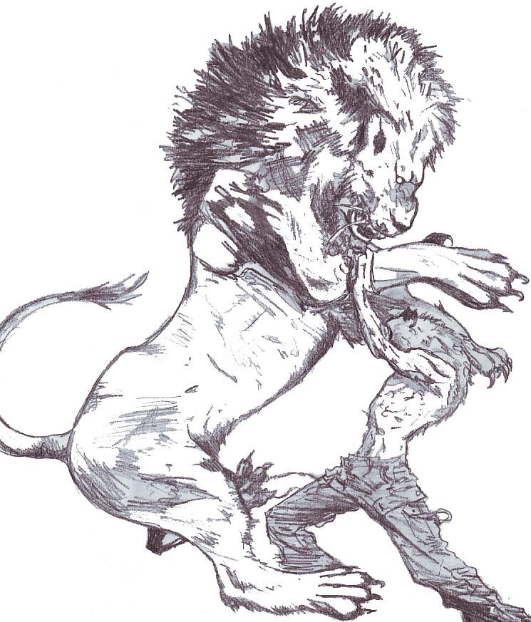 Lion VS Wolf by RedZedEMo on DeviantArt