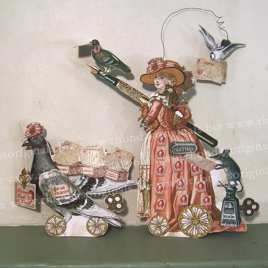 Valentine Post Mistress Paper Doll To Make MA6 by rhondasoriginals
