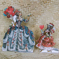 3D Greeting Card - Balloon Lady And Bird Queen