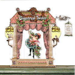 CS75 Stand-Up Gingerbread Theater by rhondasoriginals