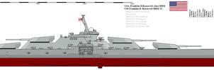 Battleship Franklin D. Roosevelt class by Davinci975
