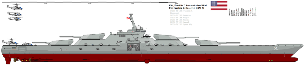 Battleship Franklin D Roosevelt class by Davinci975 onModern Battleship Design