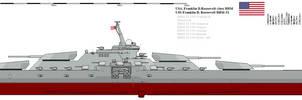Franklin D. Roosevelt class battleship by Davinci975