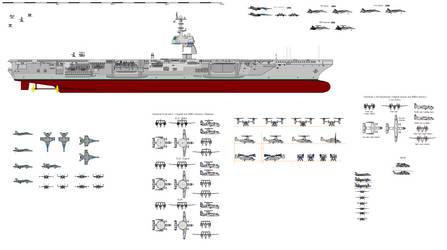 Hornet class aircarft carrier wip by Davinci975
