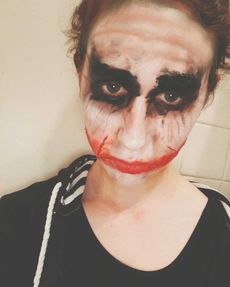 Joker makeup~ by KittyGinger