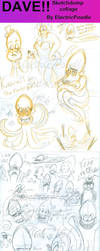 DAVE Sketch Dump Collage (WARNING: BIG file) by ElectricPoodle