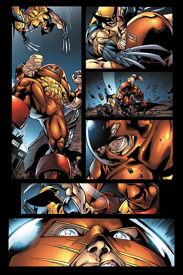 Wolverine vs Juggernaught by JPRart