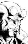 Hellboy inks