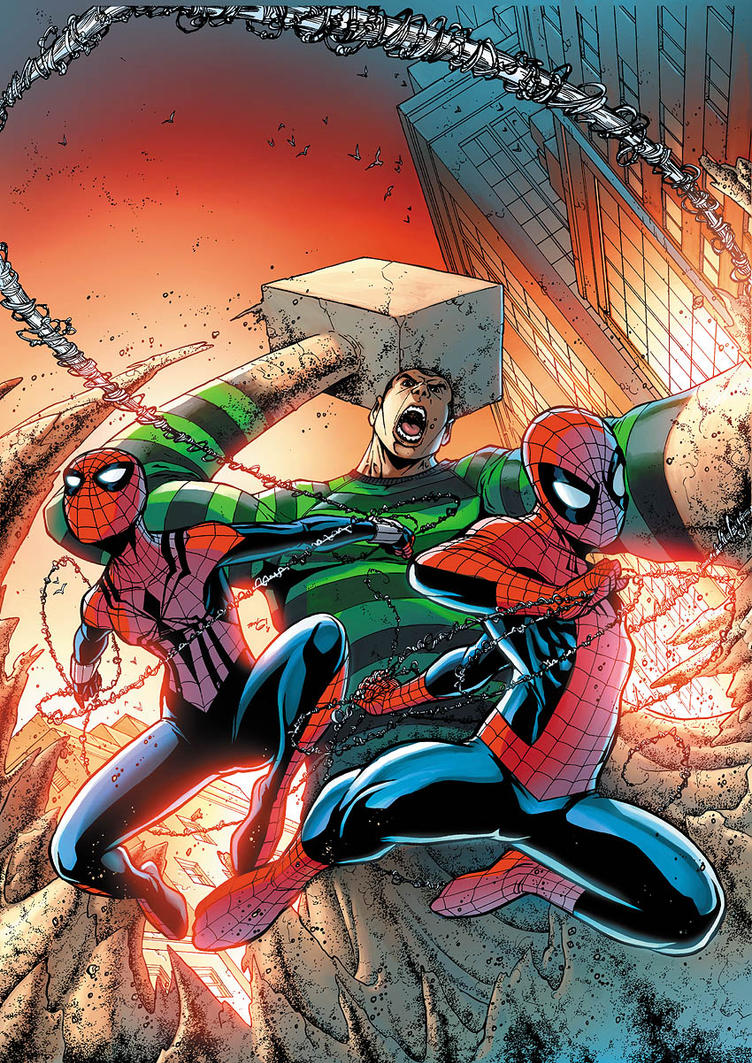 sandman spiderman comic - HD850×1216