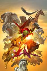 Pet Avengers cover by JPRart