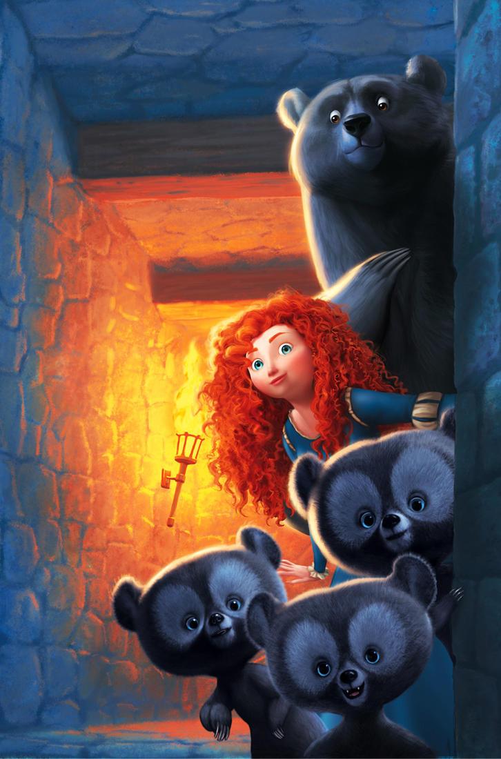 Brave big bear little bear by JPRart
