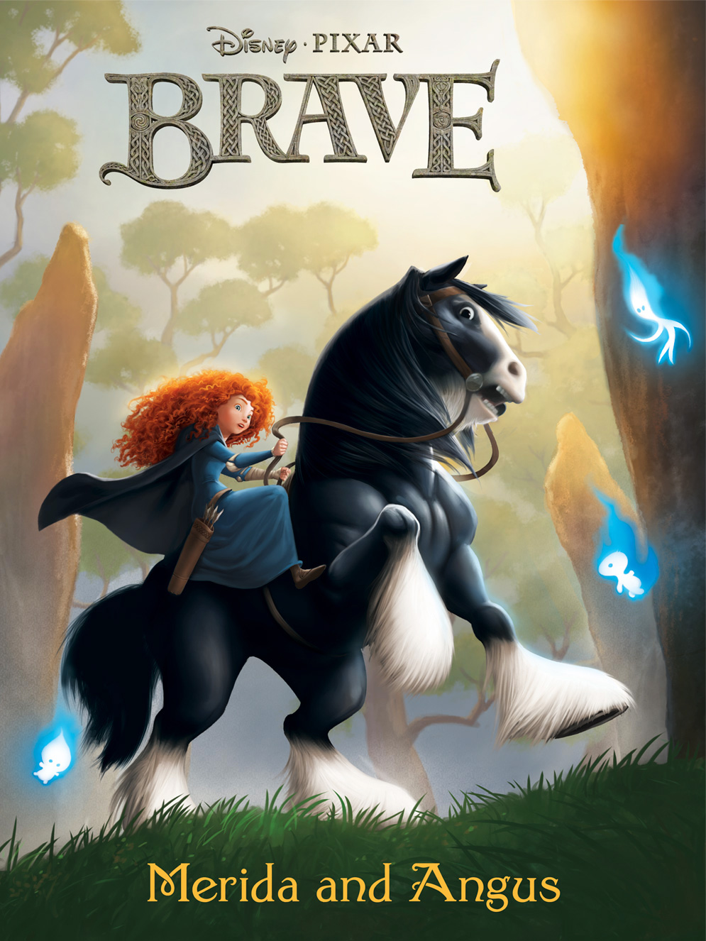 Brave Merida and Angus by JPRart