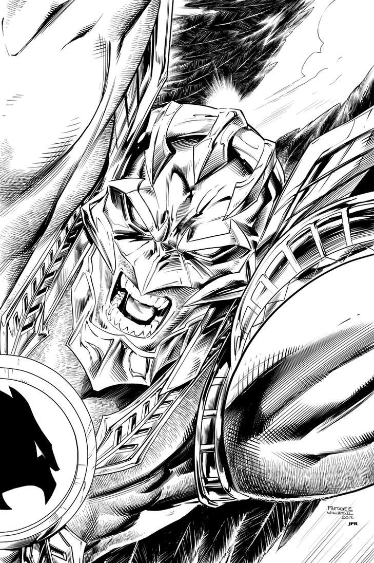 Savage Hawkman Inks by JPRart