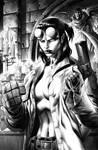 Hellgirl Greyscale