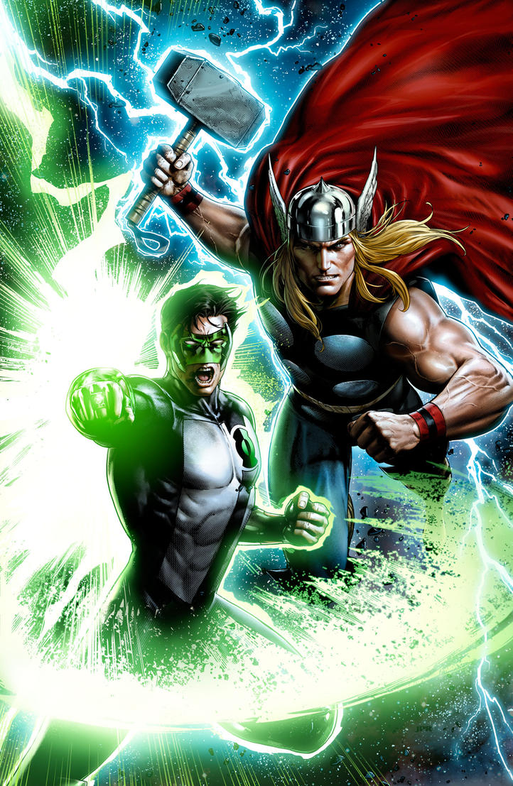 Thor-Green Lantern by JPRart on DeviantArt