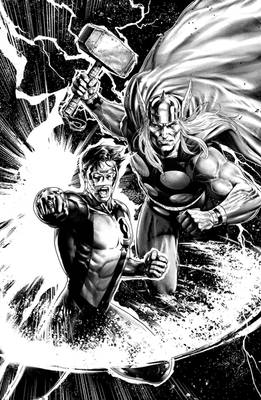 Thor-Green Lantern Lineart