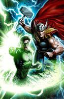 Thor-GL Hal Jordan by JPRart