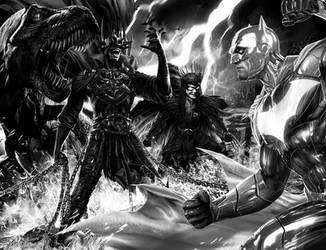 Batman - Black and White covers