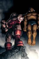 Thing vs Juggernaut by JPRart