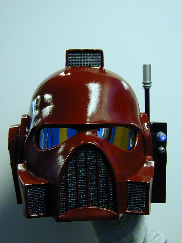 Blood Angel helmet by Brashsculptor