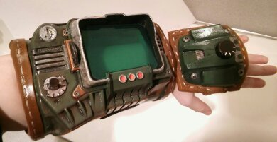 Fallout PipBoy custom Wastelander version by Brashsculptor