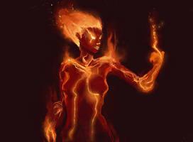 Fire Elemental by Vij-8