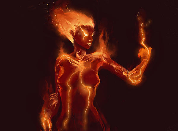 Fire Elemental Girl | www.pixshark.com - Images Galleries With A Bite!