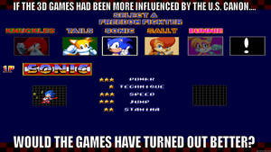 If 3D Sonic games had the U.S. Canon by Psyco-The-Frog