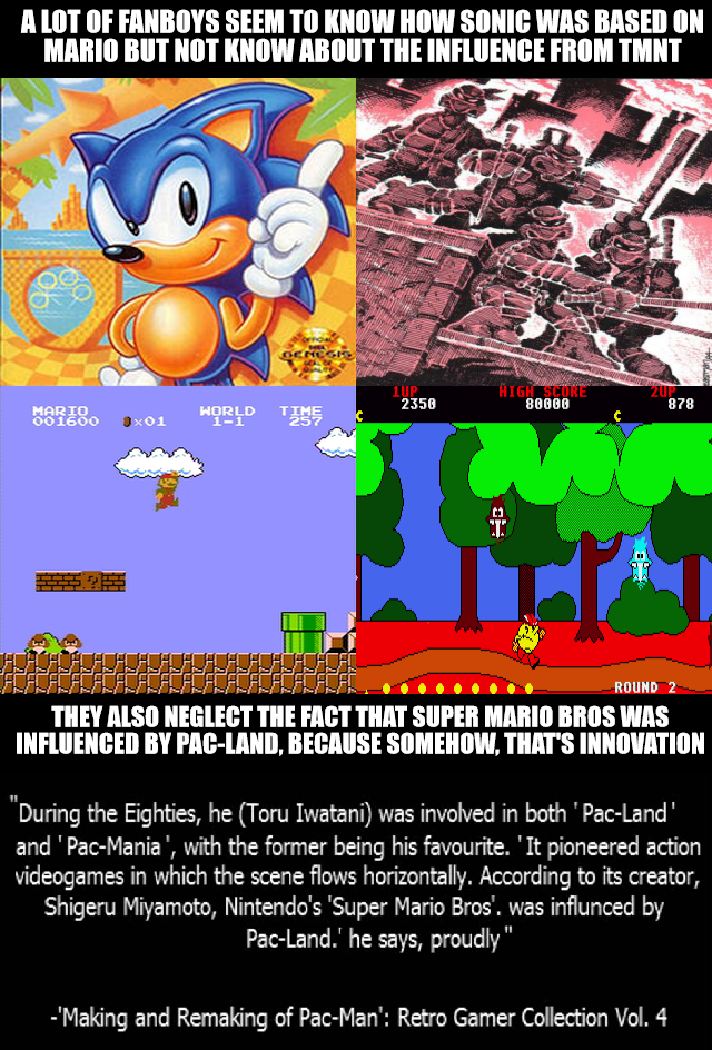Influences on Sonic and Mario by Psyco-The-Frog on DeviantArt