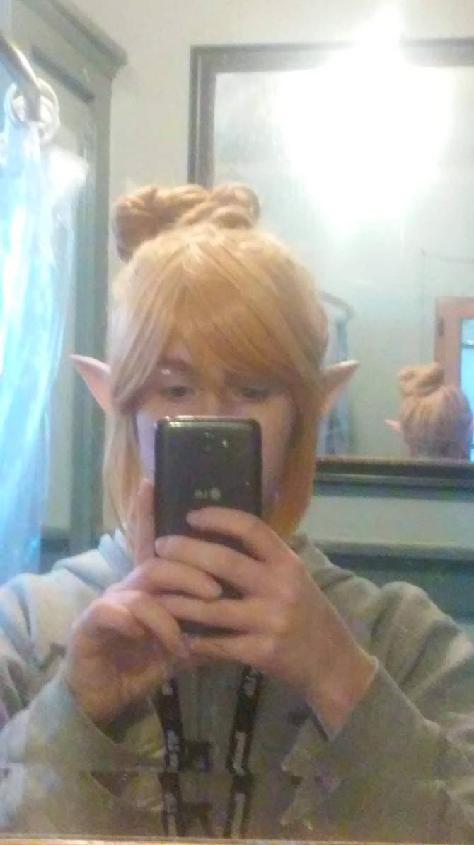 Stealth Link botw wig + ears costest