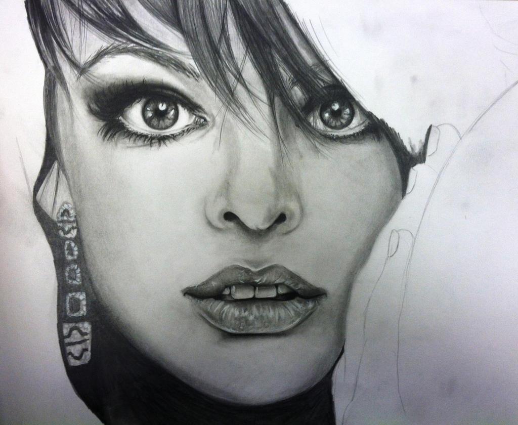 WIP Milla Jovovich4 by khrysta