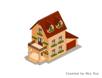 Pixel Art. Isometric. House 1