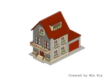 Pixel Art. Isometric. House 2