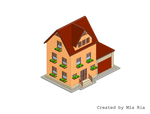 Pixel Art. Isometric. House 3