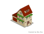 Pixel Art. Isometric. House 4