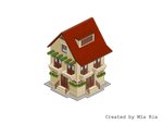 Pixel Art. Isometric. House 5