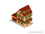 Pixel Art. Isometric. House 7