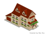 Pixel Art. Isometric. House 10