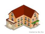 Pixel Art. Isometric. House 12