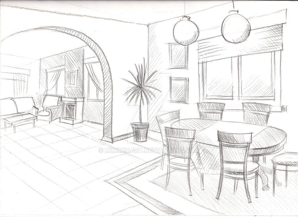 Sketch Interior By Mimimiaart On Deviantart