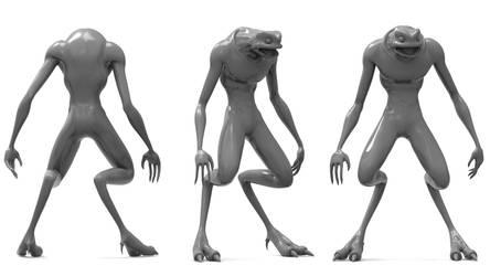 3D Cartoon Alien